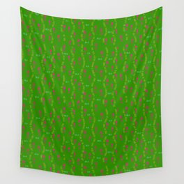 Positive Running Vibes on Green Wall Tapestry