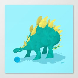 Stegosaurus and his Ball Canvas Print