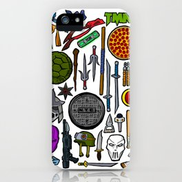 TMNT Weapons & Masks iPhone Case