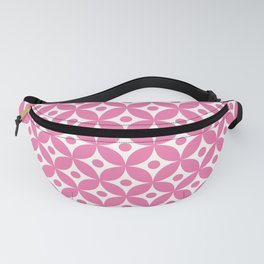 Candy pink and white elegant tile ornament pattern Fanny Pack