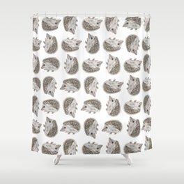 Hedgehog Jamboree Shower Curtain