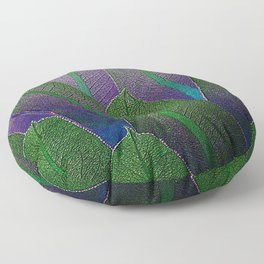 Lobelia leaves Floor Pillow