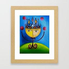 Little King as Juggler Framed Art Print