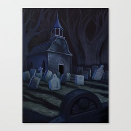 Sleepy Hollow Churchyard Cemetery Canvas Print