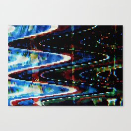 VHS-STYLE DISTORTION Canvas Print