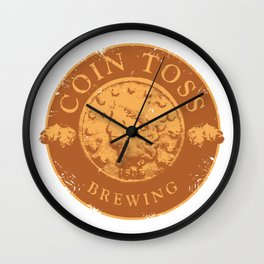 Coin Toss Brewing Wall Clock