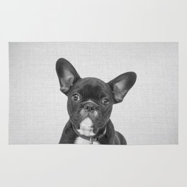 Bulldog Puppy - Black & White Rug