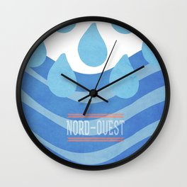Sea - Nord/Ouest Wall Clock