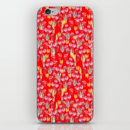 Tulips in red iPhone Skin
