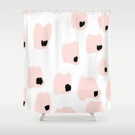 pink and black pattern Shower Curtain