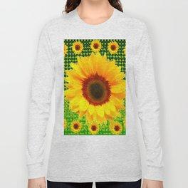 SPRING GREEN YELLOW FLOWERS GARDEN PATTERN Long Sleeve T-shirt