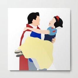 Snow white and prince Metal Print