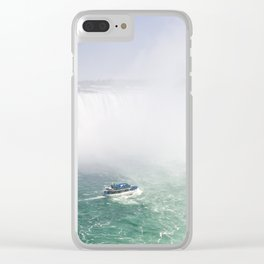 Boat and Horseshoe Falls from Niagara Falls Clear iPhone Case