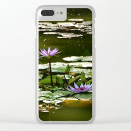 Waterlilies Clear iPhone Case