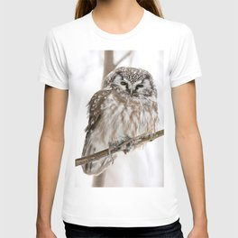 Boreal owl with prey T-shirt