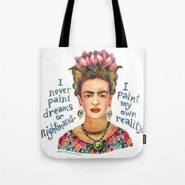 Frida by dotsofpaint studios Tote Bag