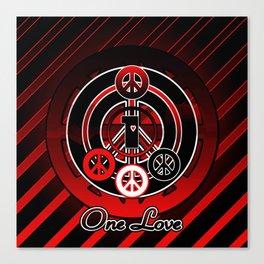 One Love (Emo) Canvas Print