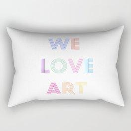 We Love Art Rectangular Pillow