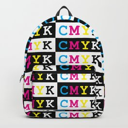 CMYK Text Pattern Backpack