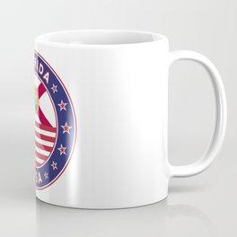 Florida, Florida t-shirt, Florida sticker, circle, Florida flag, white bg Coffee Mug