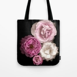 Purple, Pink, and White Roses Tote Bag