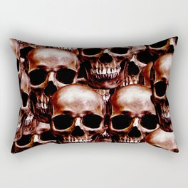 LG skull wall Rectangular Pillow