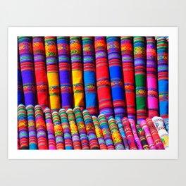 colorful patterns Art Print