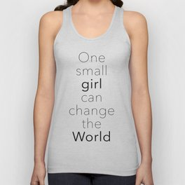 One Small Girl Can Change The World Unisex Tank Top