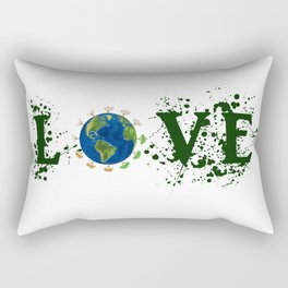 Earth Day Love Mother Earth Rectangular Pillow