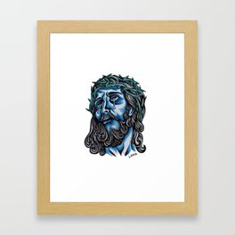 The Blue Jesus  Framed Art Print