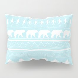 From Bears Winter And Christmas - Cute teal XMas Pattern Pillow Sham