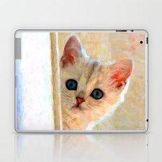 Kitten By The Window - Painting Style Laptop & iPad Skin