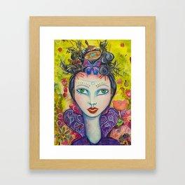 Celebration - Gold Lotus Oracle Series Framed Art Print
