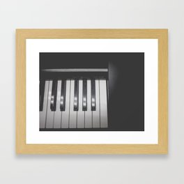 Electronic Keyboard Faded Framed Art Print
