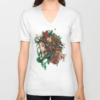 beast V-neck T-shirts featuring BEAST by Tim Shumate