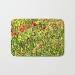 Surreal Hypnotic Poppies Bath Mat