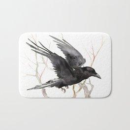 Flying Raven Art Bath Mat