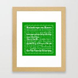 My Favorite Things - Green Framed Art Print