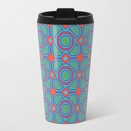 California Dreaming Abstract Geometric Seamless Pattern Travel Mug
