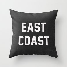 East Coast - black Throw Pillow