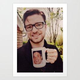 Justin drinking Jimmy Art Print