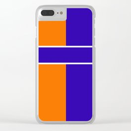 Team Color 6...blue,orange Clear iPhone Case