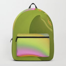 Pink and Green Curves Fractal Abstract Art Backpack