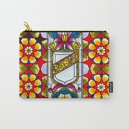 Belcher Mosaic Stained Glass Vestibule Door Light Carry-All Pouch
