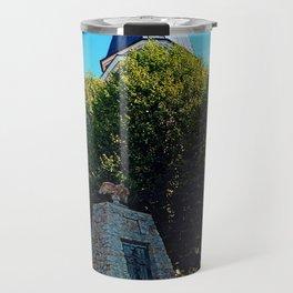 The war memorial of Eggendorf im Traunkreis Travel Mug