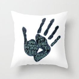 Isaiah 49:16 - Palms of his hands Throw Pillow