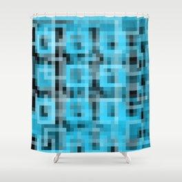 B&B Pixels Shower Curtain