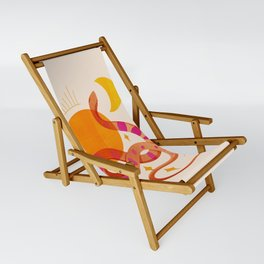 Abstraction_SUN_MOON_SNAKE_Minimalism_001 Sling Chair