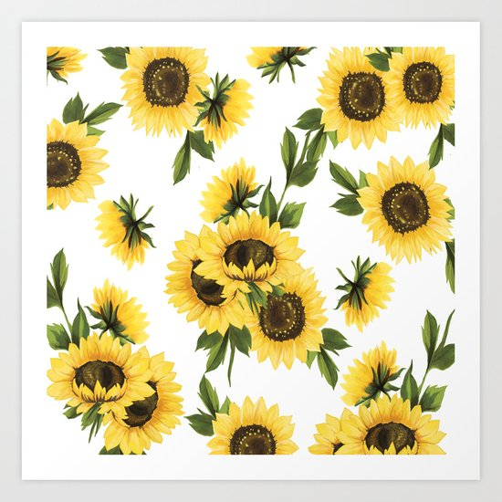 Lovely Sunflower Art Print