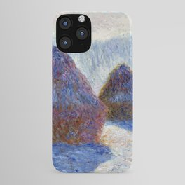 Claude Monet Haystacks in Snow and Sun iPhone Case